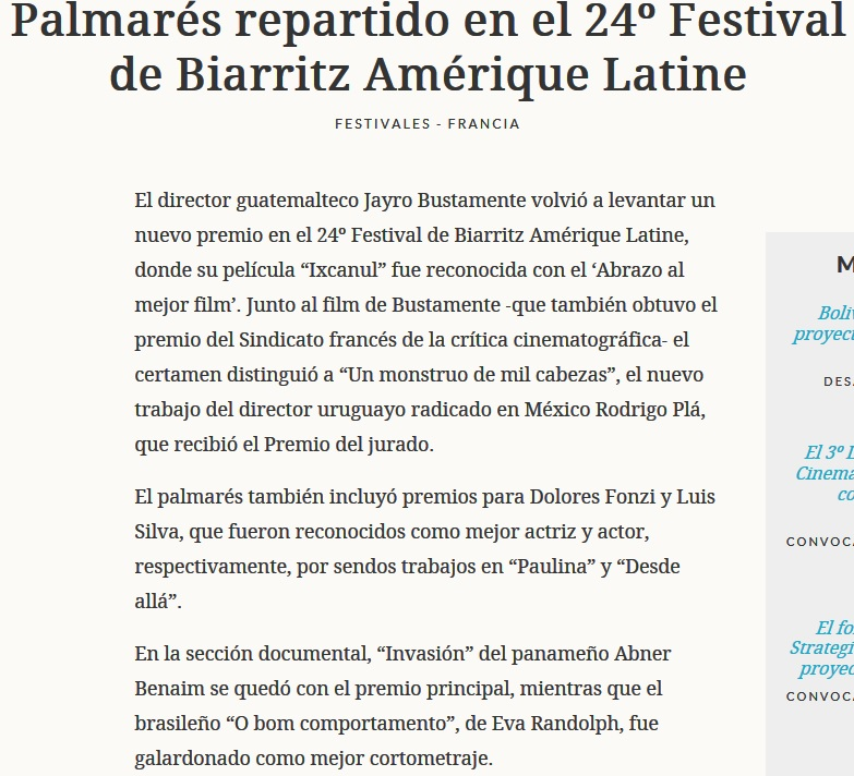 Article LatAm palmares 2015 - Part1