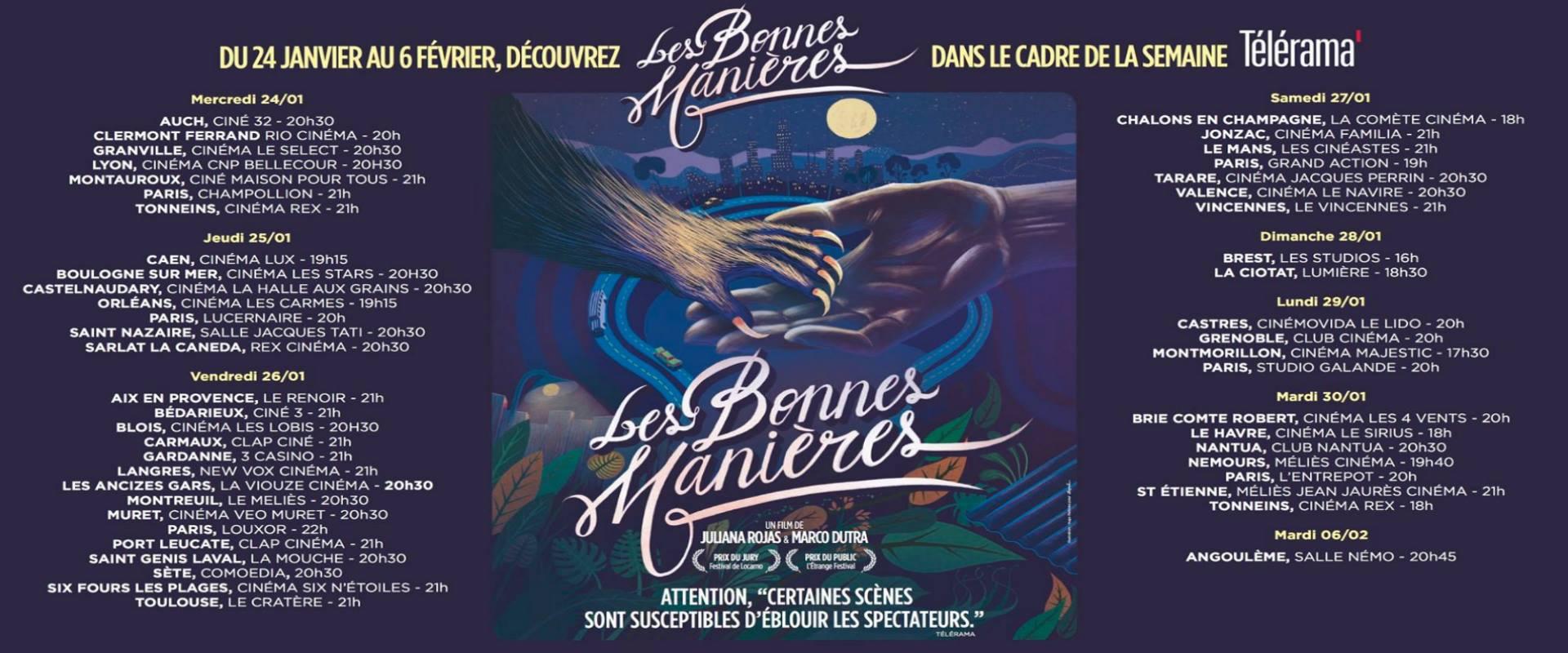LES BONNES MANIERES-AU CINEMA LE 21 MARS